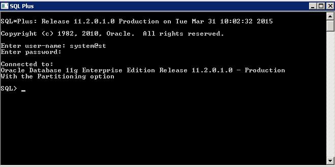 Prepare Oracle DB for SecureTransport Installation